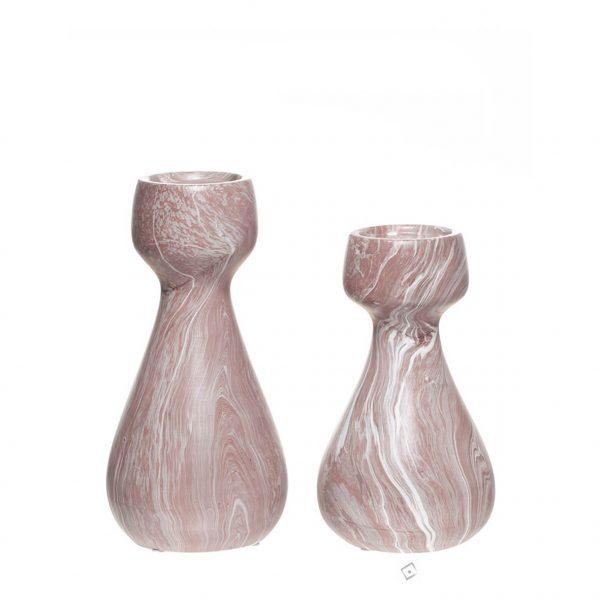 Castiçal Decorativo em Cerâmica MD