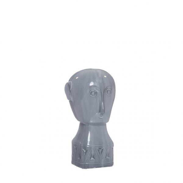 Busto Inca em Cerâmica - Grey