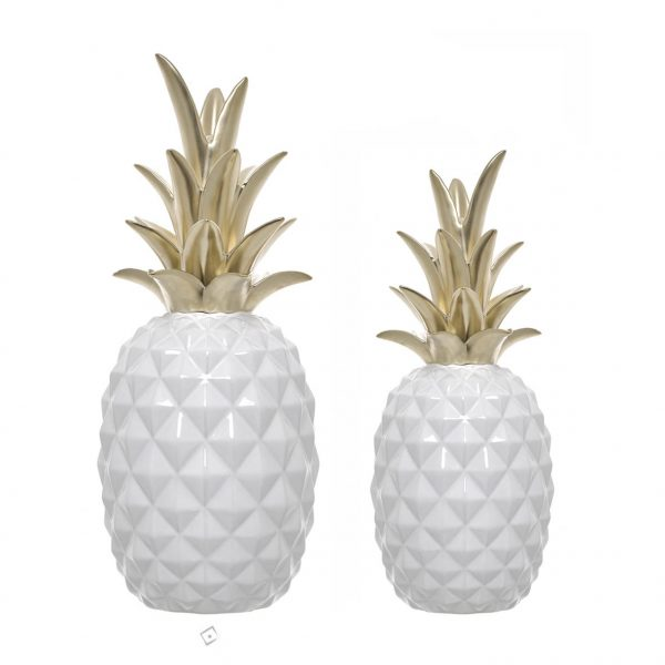 Ananás de cerâmica
