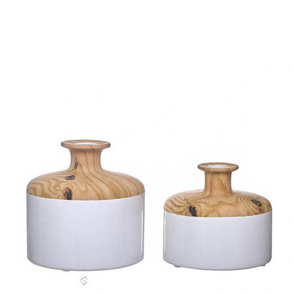 Bilha Decorativa em Cerâmica - Wood