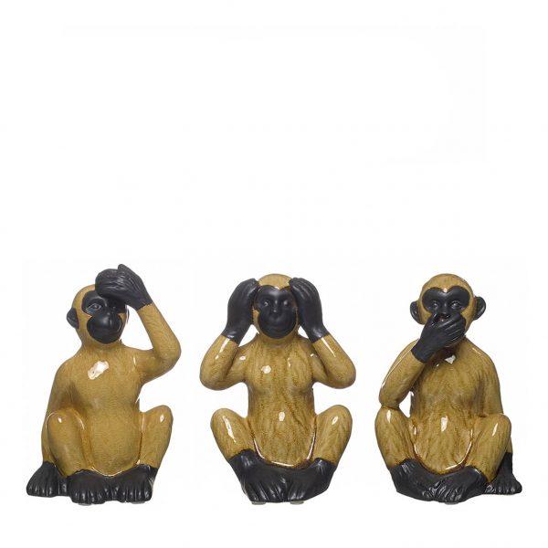 Figura Decorativa em Cerâmica - Macaco