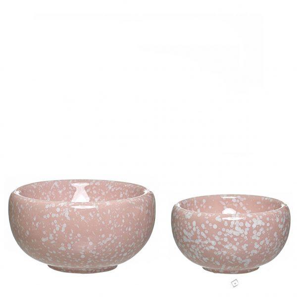 Taça de cerâmica - Pink Marble
