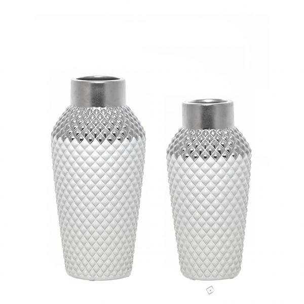 Jarra de cerâmica - Silver diamond