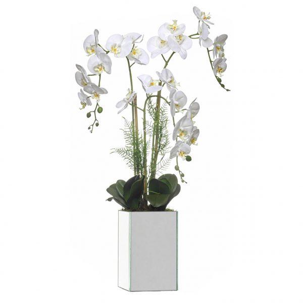 Orquídea 3 caules base espelho - 23190